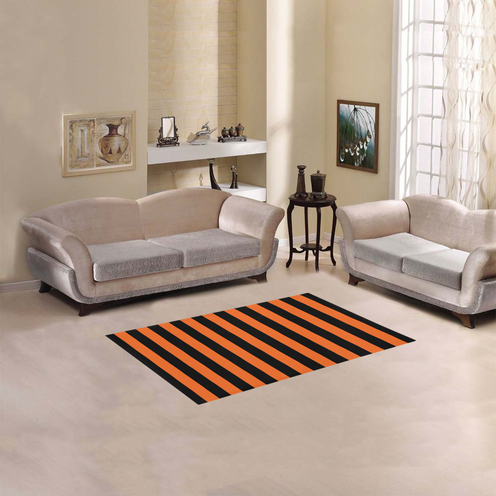 "Black Stripes Area Rug 2'7""x 1'8''"