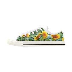 Sunflower Field Aquila Microfiber Leather Women's Shoes (Model 028)