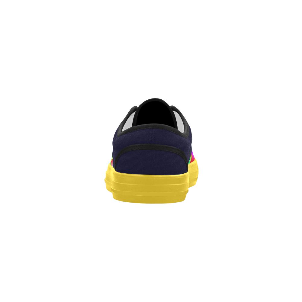 Irritation Colorful Dream Aries Women's Canvas Shoes (Model 029)