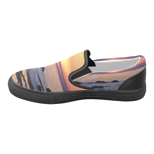 Summer's Glow Men's Unusual Slip-on Canvas Shoes (Model 019)