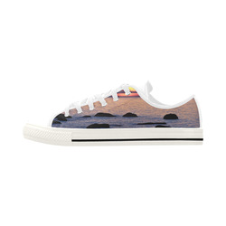 Summer's Glow Aquila Microfiber Leather Men's Shoes (Model 028)