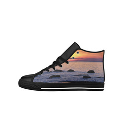 Summer's Glow Aquila High Top Microfiber Leather Men's Shoes (Model 027)