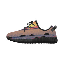 Summer's Glow Grus Men's Breathable Woven Running Shoes (Model 022)