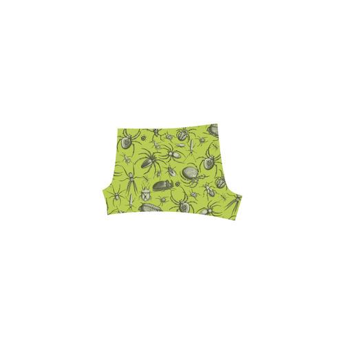 bugs spiders creepy crawlers halloween green Briseis Skinny Shorts (Model L04)