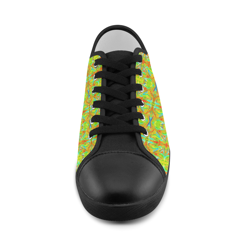 Multicolor Abstract Figure Pattern Women's Canvas Shoes (Model 016)