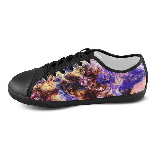 Lilac Turbulence Women's Canvas Shoes (Model 016)