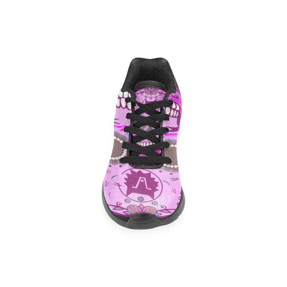 SKULL TRIBAL PINKY Men's Running Shoes (Model 020)
