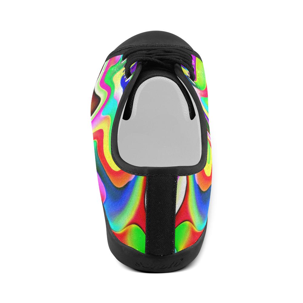 Irritation Colorful Dream Women's Canvas Shoes (Model 016)