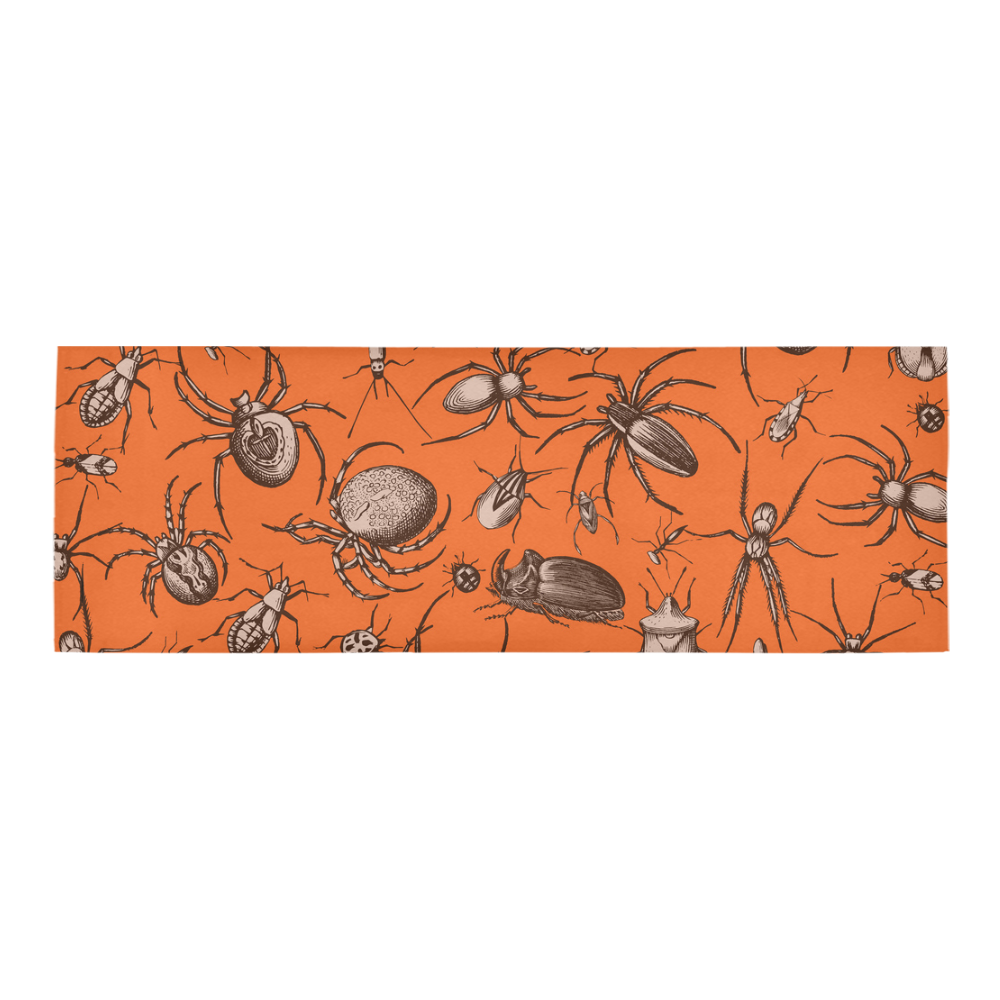 beetles spiders creepy crawlers insects halloween Area Rug 10'x3'3''