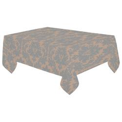 "autumn fall colors beige grey damask Cotton Linen Tablecloth 60""x 104"""