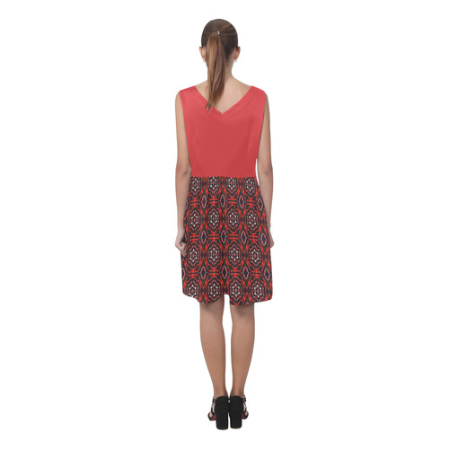 Poppy and Red Chryseis Sleeveless Pleated Dress(Model D07)