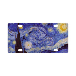 Vincent Van Gogh Starry Night Classic License Plate
