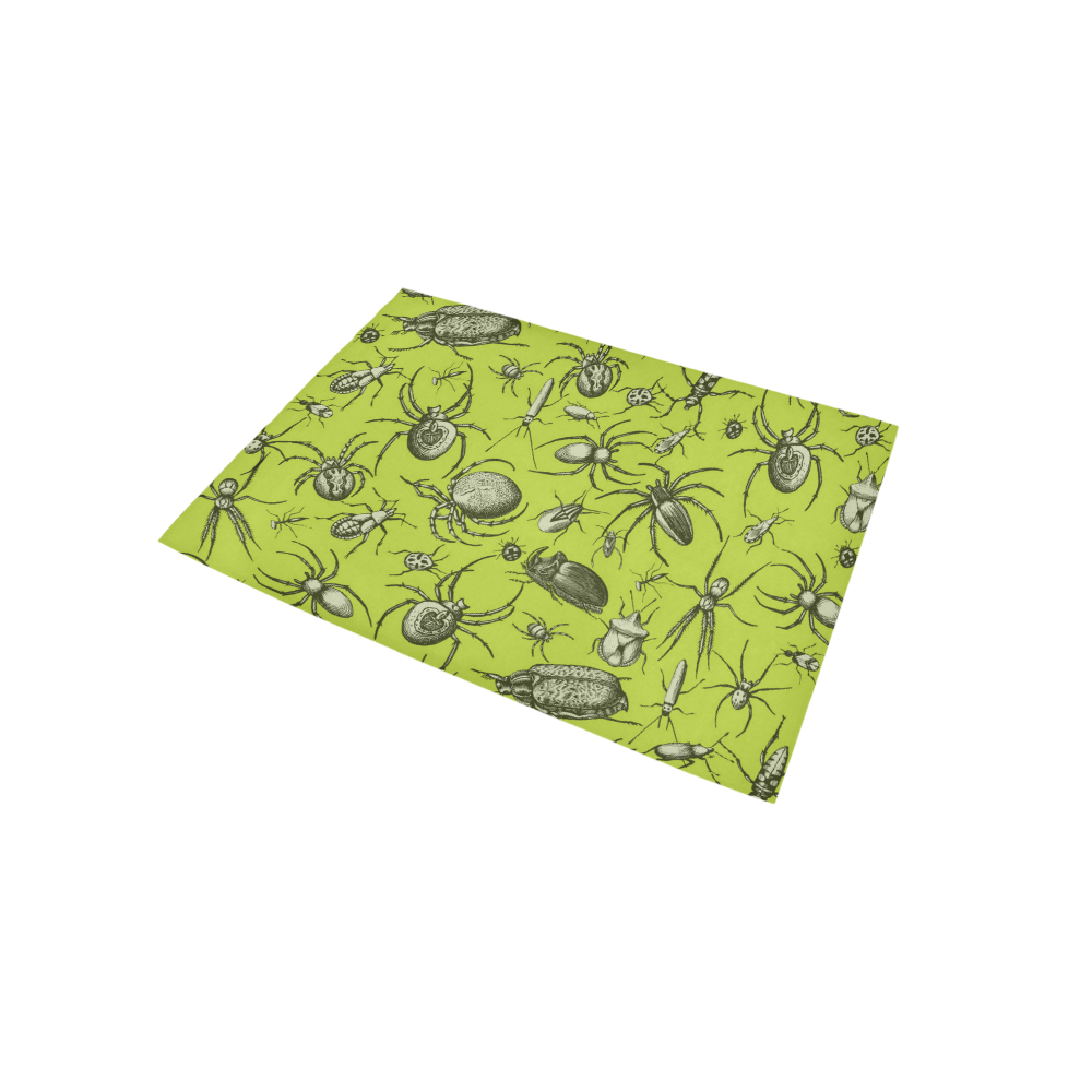 insects spiders creepy crawlers halloween green Area Rug 5'x3'3''
