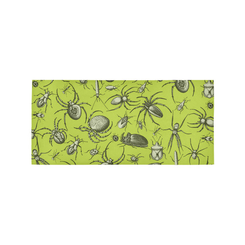 insects spiders creepy crawlers halloween green Area Rug 7'x3'3''