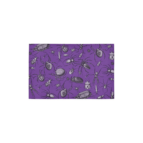 "spiders creepy crawlers insects purple halloween Area Rug 2'7""x 1'8''"