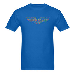 Abstract Triangle Eagle Wings Blue Men's T-Shirt in USA Size (Two Sides Printing)