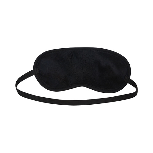 Bump Grid Black and White Sleeping Mask