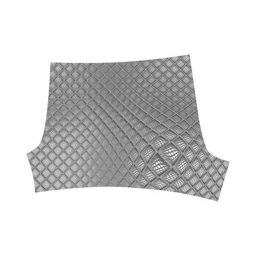 Bump Grid Black and White Briseis Skinny Shorts (Model L04)