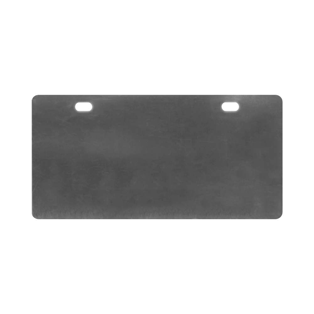 Multicolor Abtract Figure License Plate