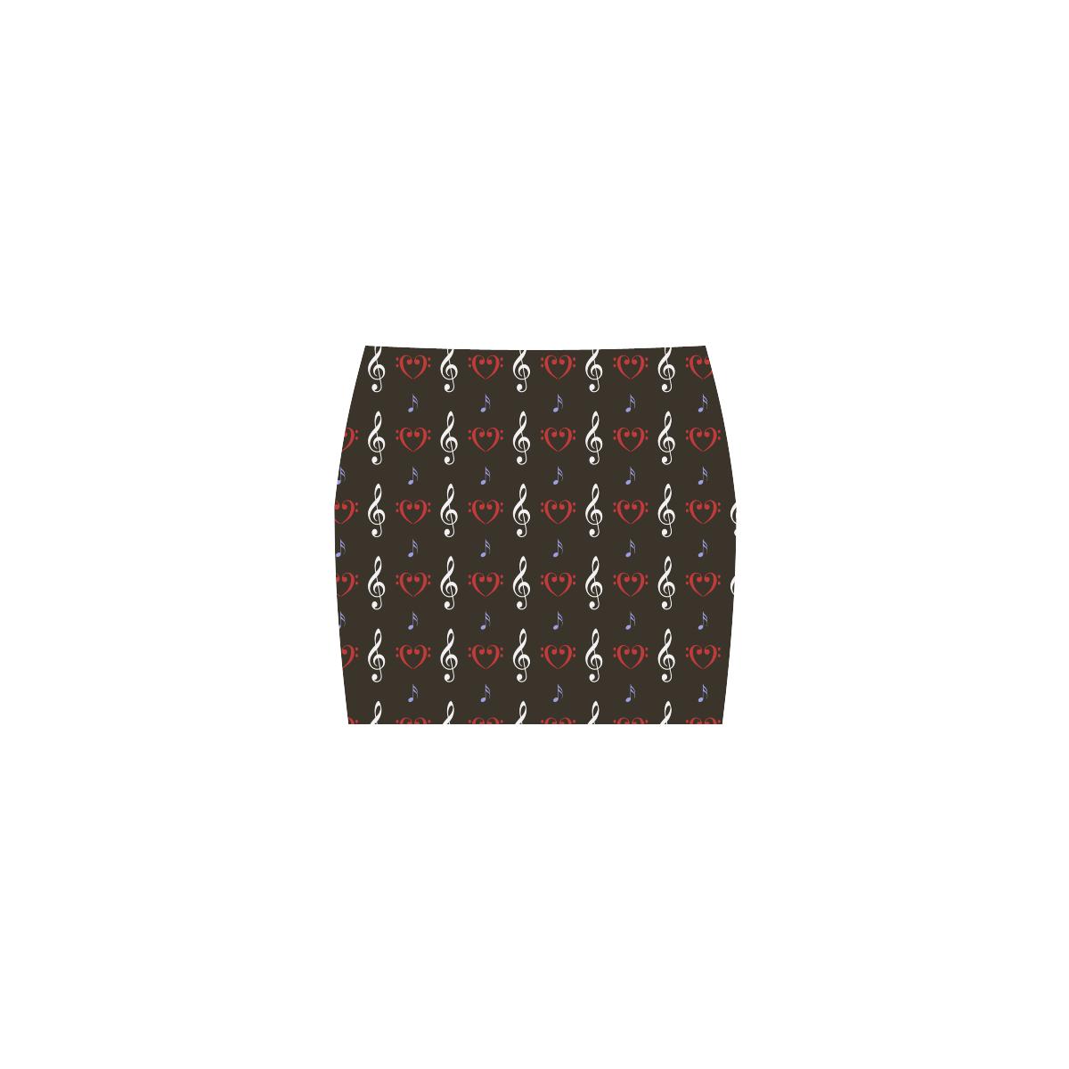 Red White and Musical Nemesis Skirt (Model D02)