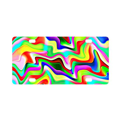 Irritation Colorful Dream Classic License Plate