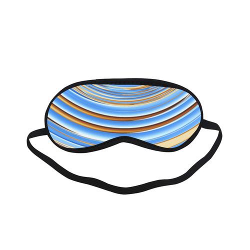 Golden Blue Circle Sleeping Mask