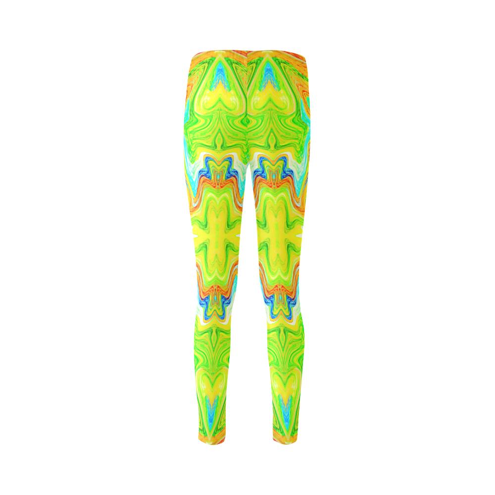 Multicolor Abtract Figure Cassandra Women's Leggings (Model L01)
