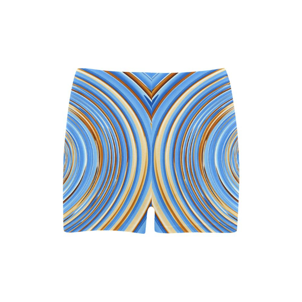 Golden Blue Circle Briseis Skinny Shorts (Model L04)
