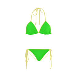 Bright Green Custom Bikini Swimsuit
