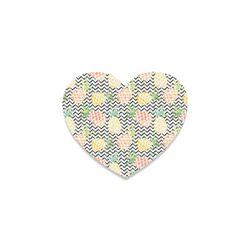 watercolor pineapple and chevron, pineapples Heart Coaster