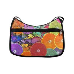 Pop Art Pattern Mix ORANGES SPLASHES multicolored Crossbody Bags (Model 1616)