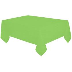 "Jasmine Green Cotton Linen Tablecloth 60""x120"""
