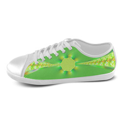 A Stroll Through The Meadow Fractal Women's Canvas Shoes (Model 016)