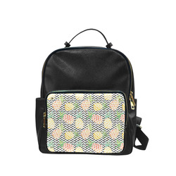 watercolor pineapple and chevron, pineapples Campus backpack/Large (Model 1650)