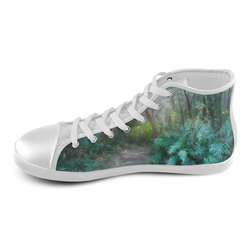 Bush, original watercolor painting High Top Canvas Kid's Shoes (Model 002)