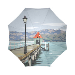 Akaroa Wharf umbrella Foldable Umbrella (Model U01)