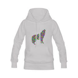 Abstract Triangle Wolf Grey Men's Classic Hoodies (Model H10)
