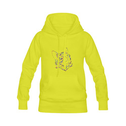 Abstract Triangle Cat Yellow Men's Classic Hoodies (Model H10)