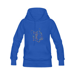 Abstract Triangle Cat Blue Men's Classic Hoodies (Model H10)