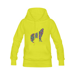 Abstract Triangle Wolf Yellow Men's Classic Hoodies (Model H10)