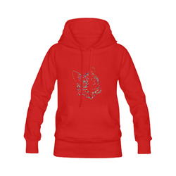Abstract Triangle Cat Red Men's Classic Hoodies (Model H10)