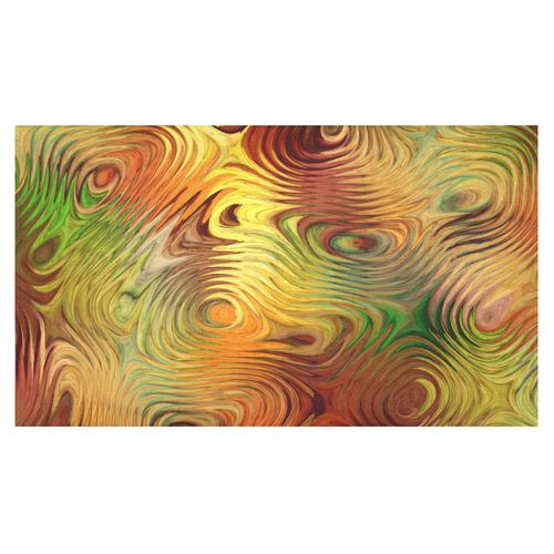 "Autumn Leafs Underwater Cotton Linen Tablecloth 60""x 104"""