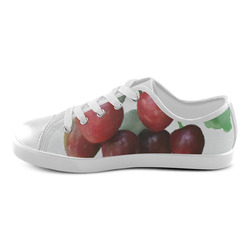 Sour Cherries, watercolor Canvas Kid's Shoes (Model 016)
