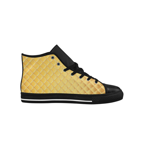 Gleaming Golden Plate Aquila High Top Microfiber Leather Men's Shoes (Model 027)