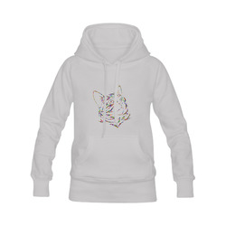 Abstract Triangle Cat Grey Men's Classic Hoodies (Model H10)