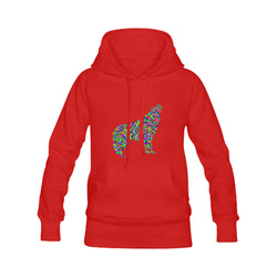 Abstract Triangle Wolf Red Men's Classic Hoodies (Model H10)