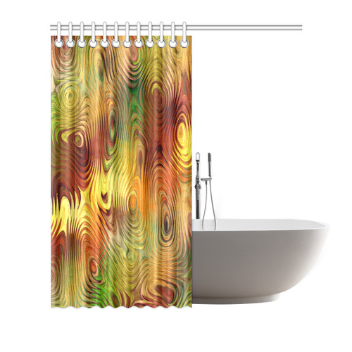 """Autumn Leafs Underwater Shower Curtain 72""""x72"""""""