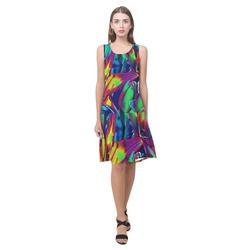 Floral ArtStudio 1016C Sleeveless Splicing Shift Dress(Model D17)