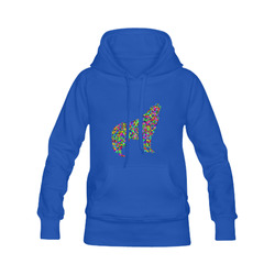 Abstract Triangle Wolf Blue Men's Classic Hoodies (Model H10)