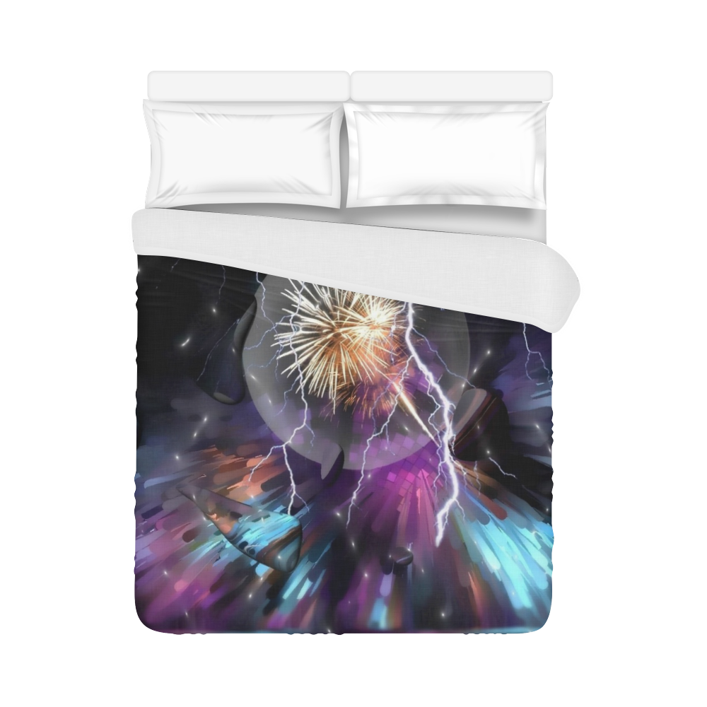 """Space Night by Artdream Duvet Cover 86""""x70"""" ( All-over-print)"""